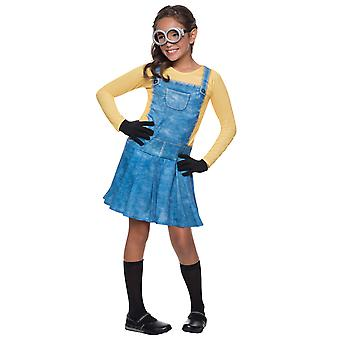 Female Minion Despicable Me Dress Up Girls Costume