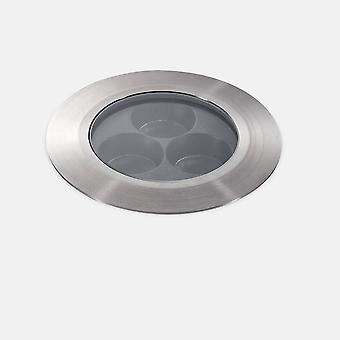 Leds-C4 Lua - Outdoor LED Ultra Compact Uplight Recessed Stainless Steel Polished 12.5cm 2340lm 37deg. 3000K IP67