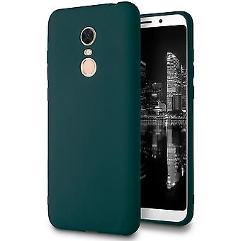 Soft Thin Mobile Case for Xiaomi Redmi 5 Plus Solid Color Lightweight Ultra-Slim TPU Green