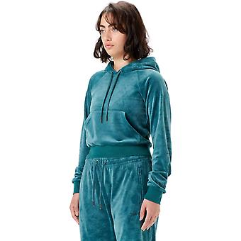 Juicy Couture Hope Embossed Velour Hoodie Green 69