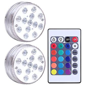 Rgb13 Lights Led Waterproof Submersible Underwater With Remote Control