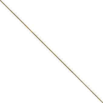 14k Yellow Gold Polished .5mm Box Chain Necklace Spring Ring Jewelry Gifts for Women - Length: 16 to 30