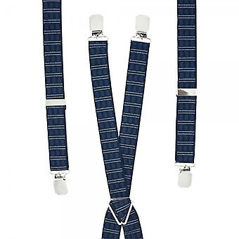 Krawaty Planet Navy Blue Wzorzyste Szelki do spodni