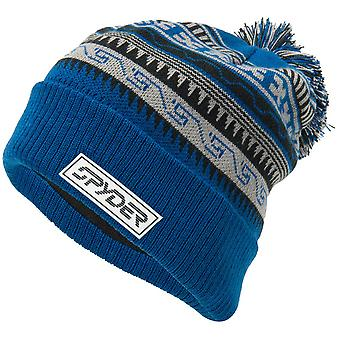 Spyder HERITAGE Herren Bommel Winter Ski Mütze blau