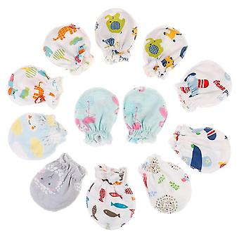 Fashion Baby Anti Scratching Gloves Cotton Scratch Mittens Cotton Newborn Protection Face