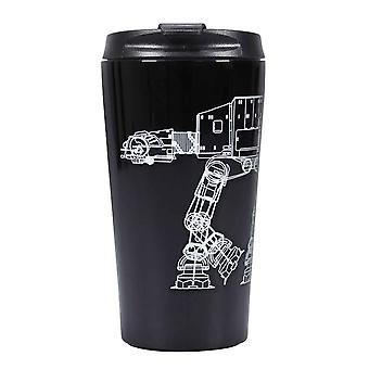 Star Wars Travel Mug At-At Walker new Official Black Metal