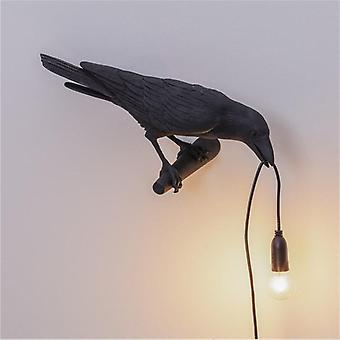 Designer Bird Lamp Led Wall Lamp With Plug In Cord Living Room Bedside Lights