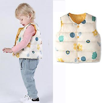 Colorful Polka Dot Baby Winter Vest Cotton Coats