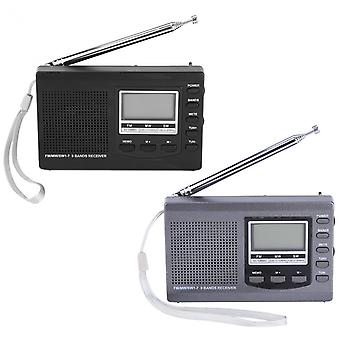HRD-310 Portable Mini FM MW SW Digital Alarm Clock FM Radio Receiver