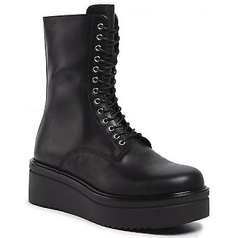 Tara black booties