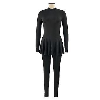 Black Swimming Suit For Burkini Muslim Fashion Swimwear Women Swimsuit Long