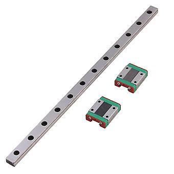 30cm MGN12 Guía de rodamientos de plata Carril deslizante lineal y 2 bloque deslizante