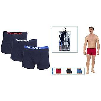 Tom Franks hombres Keyhole Boxer Shorts (3 pares)