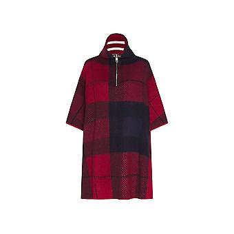 Tommy Hilfiger Tommy Hilfiger Icoon Rits Check Womens Cape Sweater