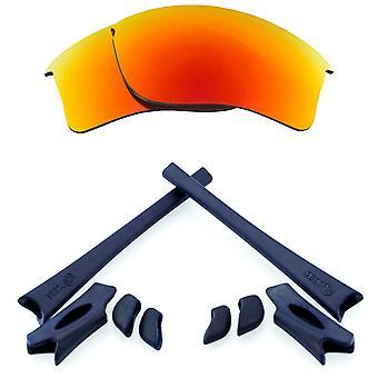 الاستقطاب استبدال عدسة عدة ل Oakley Flak سترة XLJ الأحمر مرآة البحرية الزرقاء المضادة للخدش المضادة للوهج UV400 SeekOptics
