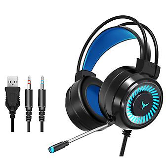 H & A Gaming Headphones Wired for PC / Xbox / PS4 / PS5 - Headset Headphones with Microphone Black