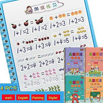 Copybook For Calligraphy Books (4pcs)