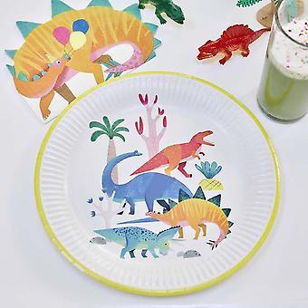 Dinosaur vormige partij papieren servetten x 16 Childrens partij