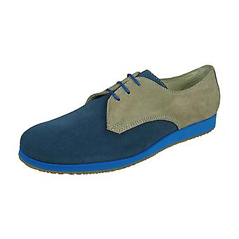Angela Brown Luke Boys Suede Leather Brogue / Chaussures lacets - Bleu et Beige