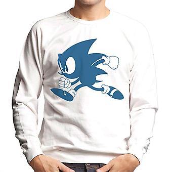 Sonic Siili Sininen Siluetti Miehet'Pusero