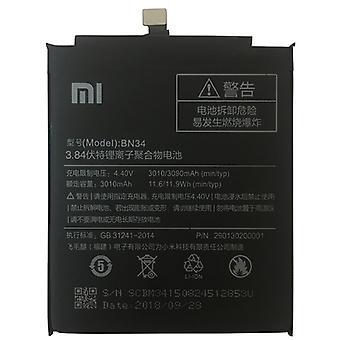 BN34 3010mAh ليثيوم البوليمر البطارية لA xiaomi Redmi 5A