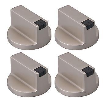 Sølv zinklegering 6mm Aksel Core 0 graders gaskomfur knob pack af 4