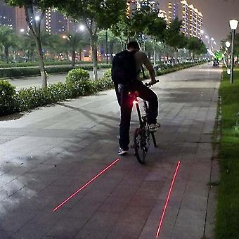 Luz traseira laser de bicicleta