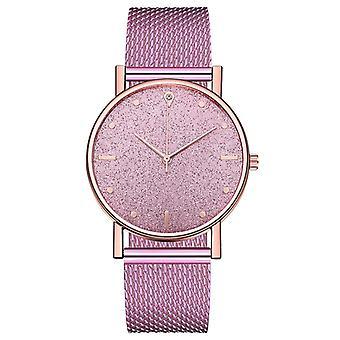 Luxury kellot naisten kvartsi rannekello ruostumaton teräs dial rento rannekoru