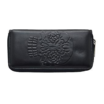 Banned Embossed Skull Purse