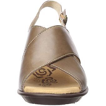 Propet Women's Luna Wedge Sandal, Khaki, 09 B US