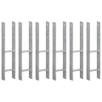 Post carrier 6 pcs. silver 12×6×60 cm Galvanized steel