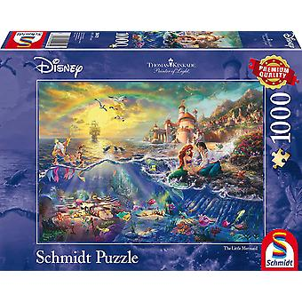 Thomas Kinkade Disney The Little Mermaid 1000 Piece Jigsaw Puzzle