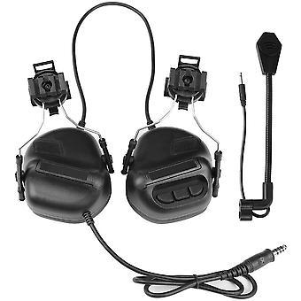 Fones de ouvido de caça tática do exército, fone de ouvido airsoft de capacete militar