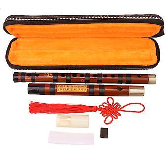 Professional Bitter Bamboo Flute Kit Chinese Dizi Instruments of G Key