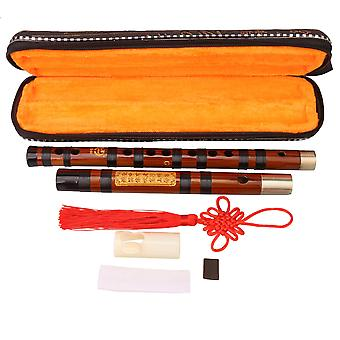 Professionele Bitter Bamboo Flute Kit Chinese Dizi Instrumenten van G Key