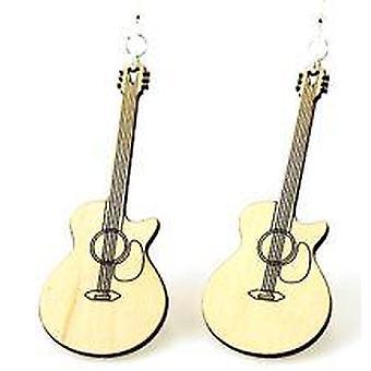 Brincos de guitarra cortados # 1423
