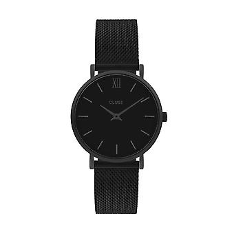 Cluse Unisex Minuit Black Circle Quartz Fashion Watch CW0101203012