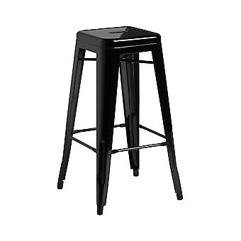 Fusion Living Retro Powder Coated Steel High Stool Available In Various Colours