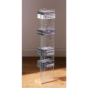 Crent Dvd Cd Stotage Unit Rack Chrome Standing