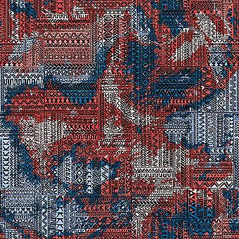 Trend Patchwork 3 Alfombra impresa multicolor en poliéster, algodón, L80xP200 cm