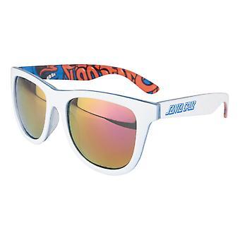 Santa Cruz Screaming Insider Sunglasses - White / Blue