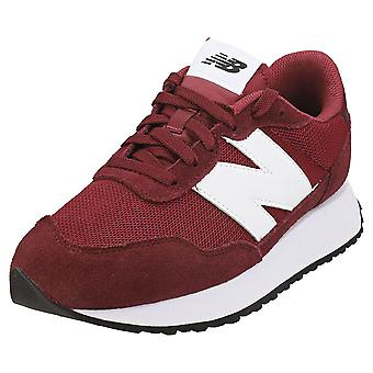 New Balance 237 Mens Fashion Trainers in Burgundy White