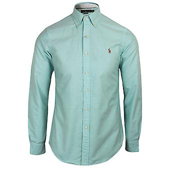 Ralph lauren men's turquoise blue oxford shirt