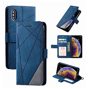 Stuff Certified® Xiaomi Poco X3 Pro Flip Case - Leather Wallet PU Leather Wallet Cover Cas Case Blue