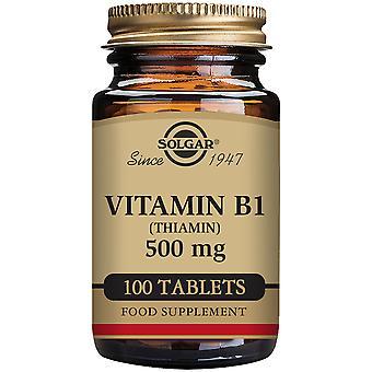 Solgar Vitamin B1 500 mg 100 Tablets