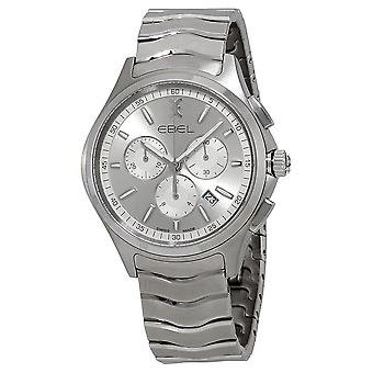 Ebel Wave Chronograph Silver Dial Men's Watch 1216340