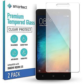 HaiFei Schutzglas kompatibel mit Xiaomi Redmi 3s [2 Stck] - Gehärtetes Glas mit 9H Hrte - Blasenfreie