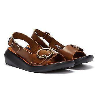 Vuela Londres sandalias berk de color marrón femenino