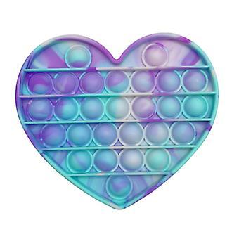 الاشياء المعتمدة® البوب ذلك - تململ مكافحة الإجهاد لعبة فقاعة لعبة سيليكون القلب الأزرق الأرجواني