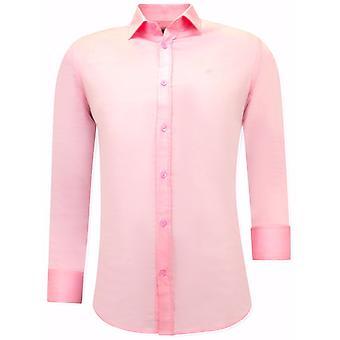 Satin Shirt Front - Slim Fit - 3071 - Pink